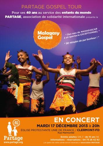 Malagasy, gospel,Partage-Auvergne, parrainage,mairie d'Aubière,temple de Clermont-Fd,Patit Cosec,concert de Noël, chorale d'enfants,